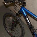 Detaljbildet av fronten på sykkelen