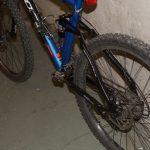 Detaljbilde av bakdelen på sykkelen