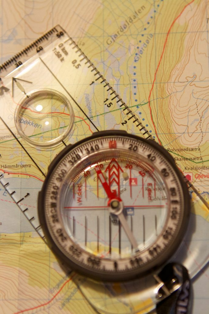 Kompass over kart