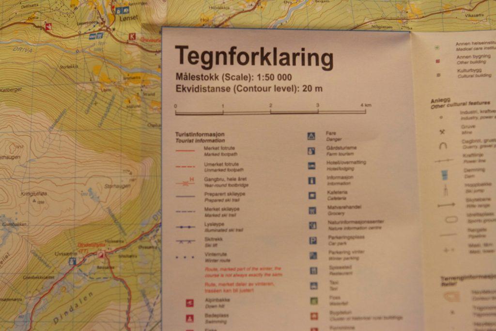 Kart - Tegnforklaring