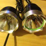 LED-lys sammenligning front