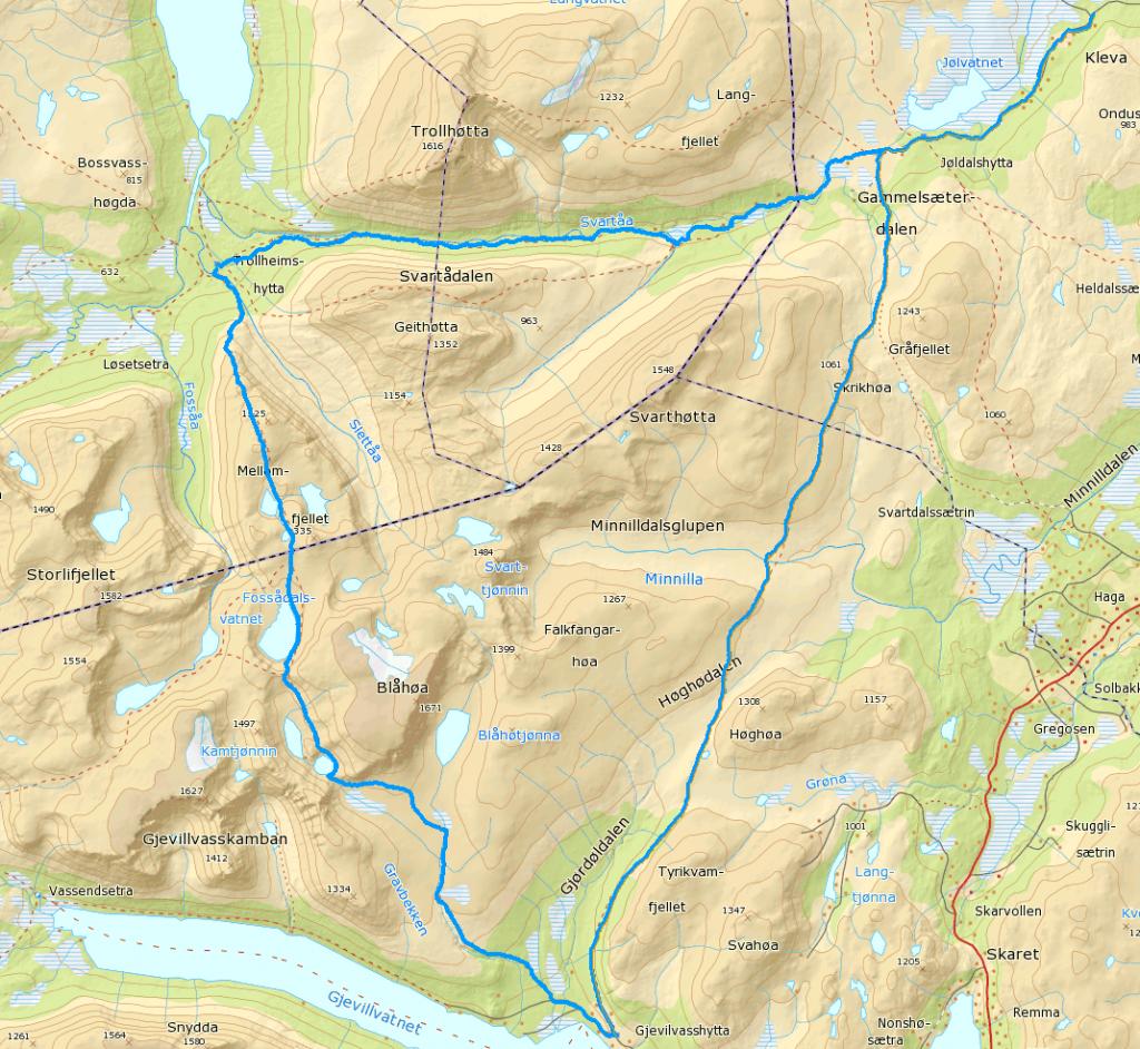 Trekanten kart
