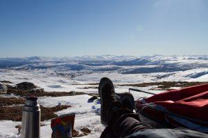 Vinterutsikt fra Omnfjellet