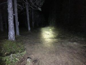 Sykkellykt i mørket
