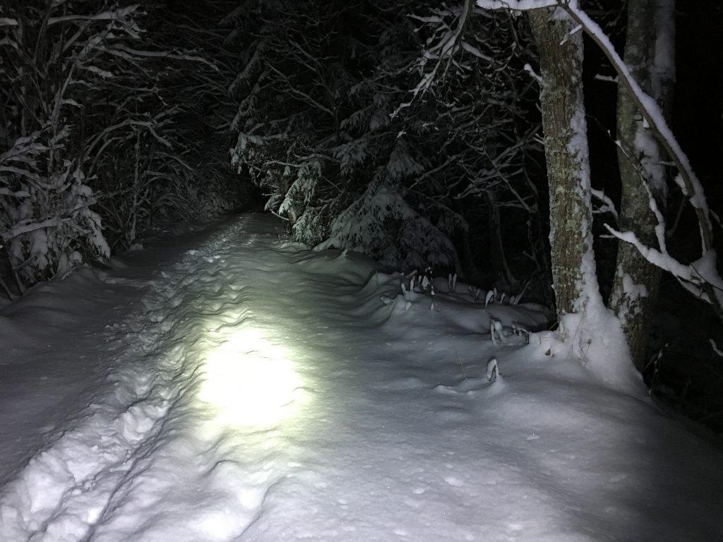 Dypsnø og sykling i mørket