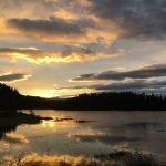Fantastisk solnedgang ved Byavatnet