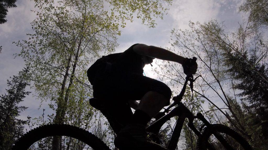 Syklist i sola